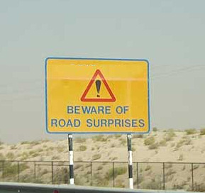 Road Surprises Sign